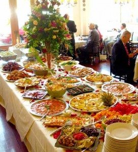Wedding buffet at Simple Pleasures