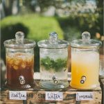 Wedding drink station to greet your guests and quench their thirst