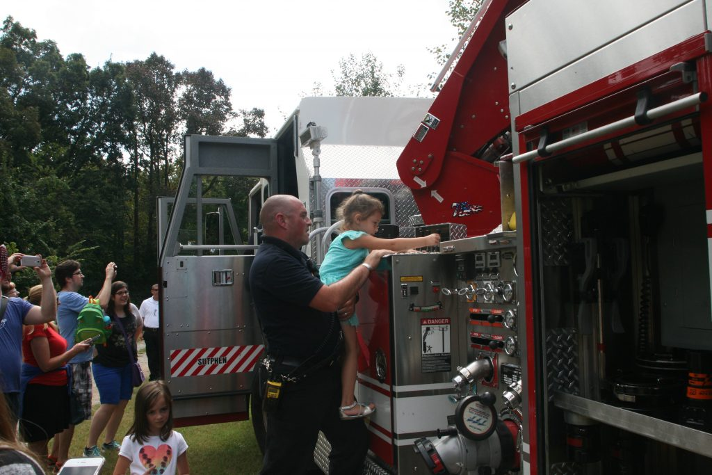 Heroes and Hamburgers brought the community and law enforcement together for a day of fun.