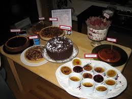 Dessert making competition at the company holiday party can be competitive, delicious and fun. (Wikepedia)