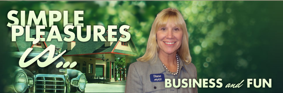 """A great business venue.  Our guests enjoyed nostalgia, good food, and productive conversation!""  <span style=""font-size: 16px;"">Diane Holmes, V.P. Arvest Bank</span>  [button link=""http://simplepleasures.us/events/business-events/"" color=""green""]LEARN MORE[/button]"